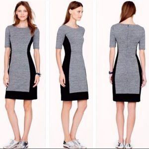 Jcrew color block black and gray dress Size 4